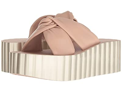 Tory Burch Knotted Scallop Wedge Slide (Goan Sand) Women