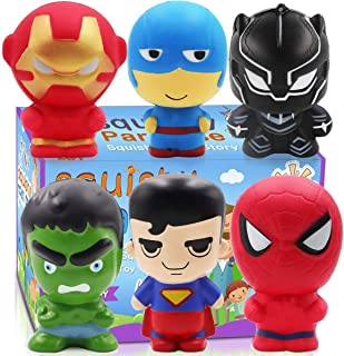 POKONBOY Squishy Toys Jumbo Squishies - 6 Pack Scented Squishies Pack Party Favors for Boys Stress Relief Toys Christmas