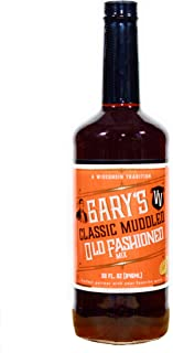 Gary's Classic Muddled Old Fashioned Mix (32 FLOZ) 64 Cocktails per Bottle, Premium Non-alcoholic Mixer, Wisconsin Tradition, Old Fashioned Drink Mix