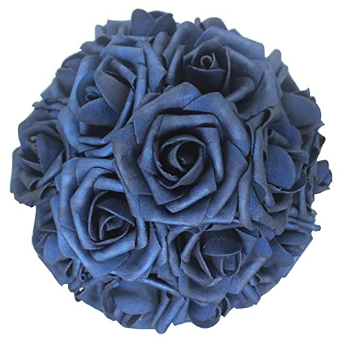 Navy Blue Flowers For Wedding Amazon Com