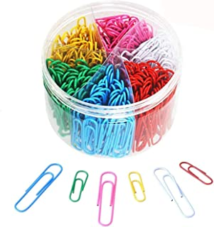 Paper Clips Kit Colorful Paper Clips Set 300Pcs for Desk Organizer Office School Supplies