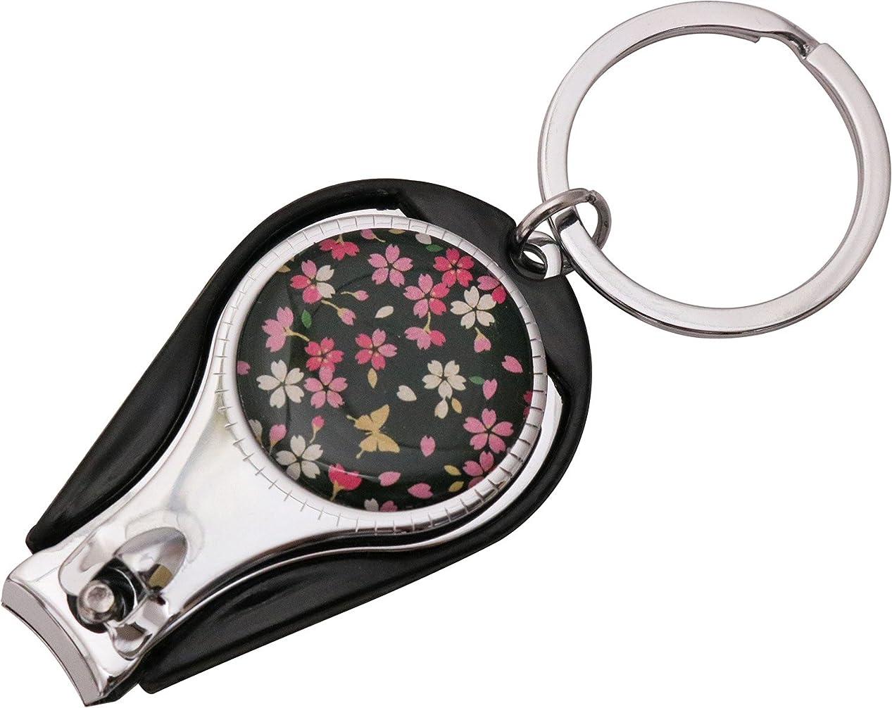 生じる寛大さ郵便局まつみ工芸 爪切り 花しずく 桜蝶