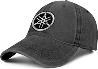 Mens Womens Yamaha-Tuning-Fork-Motorcycle-Logo- Adjustable Retro Summer Hats Baseball Washed Dad Hat Cap