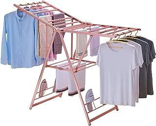 BBZZ Étendoir à linge chauffant électrique pliable pour intérieur, balcon, intérieur (couleur : or rose, taille : unique)