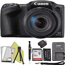 $204 » Canon PowerShot SX420 Digital Camera w/42x Optical Zoom - Wi-Fi & NFC Enabled (Black) ZeeTech Bundle (32GB Card Starter Bundle)
