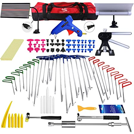 Amazon Com Super Pdr Paintless Dent Repair Master Tool Set Includes Pdr Rods Slide Hammer Gule Gun Pdr Line Borde Handtools And Accessories Automotive