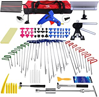 Super PDR Paintless Dent Repair Master- Tool Set Includes PDR Rods Slide Hammer Gule Gun PDR Line Borde Handtools and Accessories