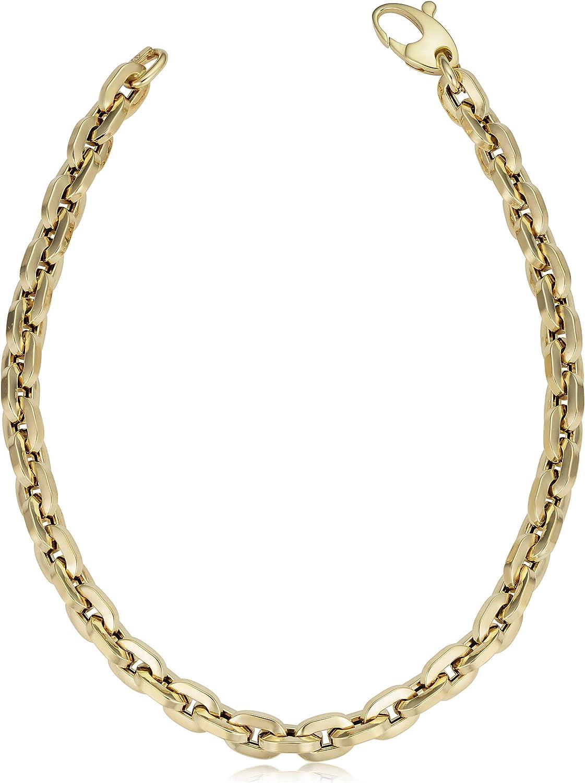 Amazon.com Kooljewelry 21k Yellow Gold Polished Square Link ...