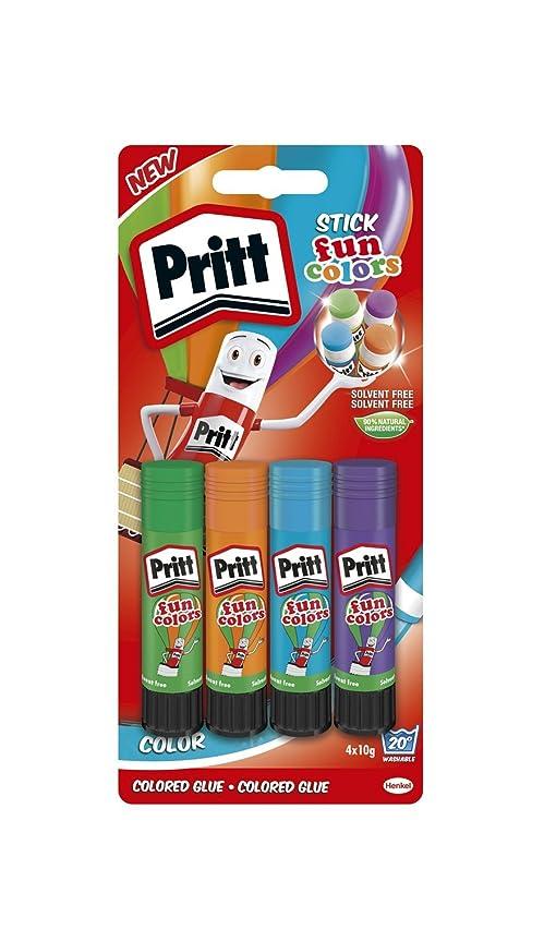 PRITT COLOURED STICKS 10G 4 PACK PK12