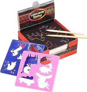 Queenser Scratch Paper Art Set Rainbow Magic Scratch Paper 100 PCS for Kids Black Scratch it Off Art Crafts Kits Notes Boa...