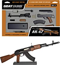 GoatGuns Miniature AK47 Model Black | 1:3 Scale Die Cast Metal Build Kit