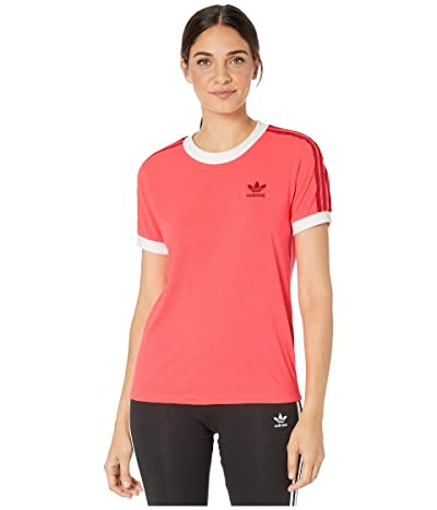 adidas Originals 3-Stripes Tee (Flash Red) Women