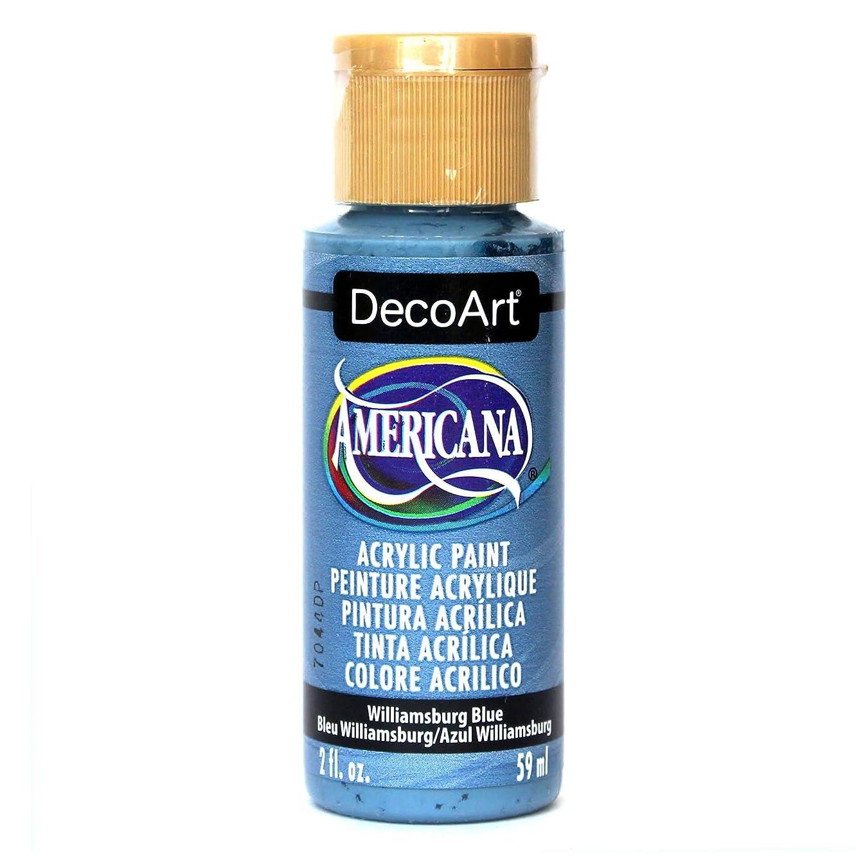 DecoArt Americana Acrylic Paint, 2-Ounce, Williamsburg Blue