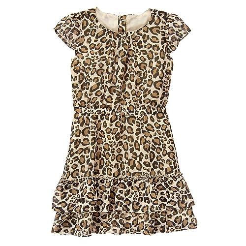 36800dcc51 Crazy 8 Girls  Cheetah Woven Dress