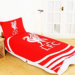 Liverpool FC Official Reversible Pulse Single Duvet Set (Single) (Red/White)