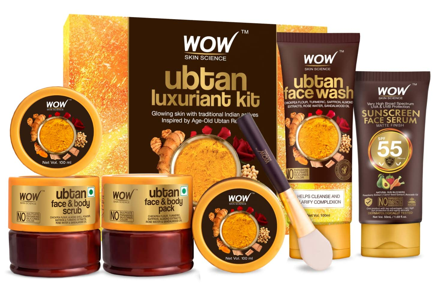 New mail order WOW Skin Science Luxuriant Ubtan Kit Pack U Face Body Ranking TOP4 -