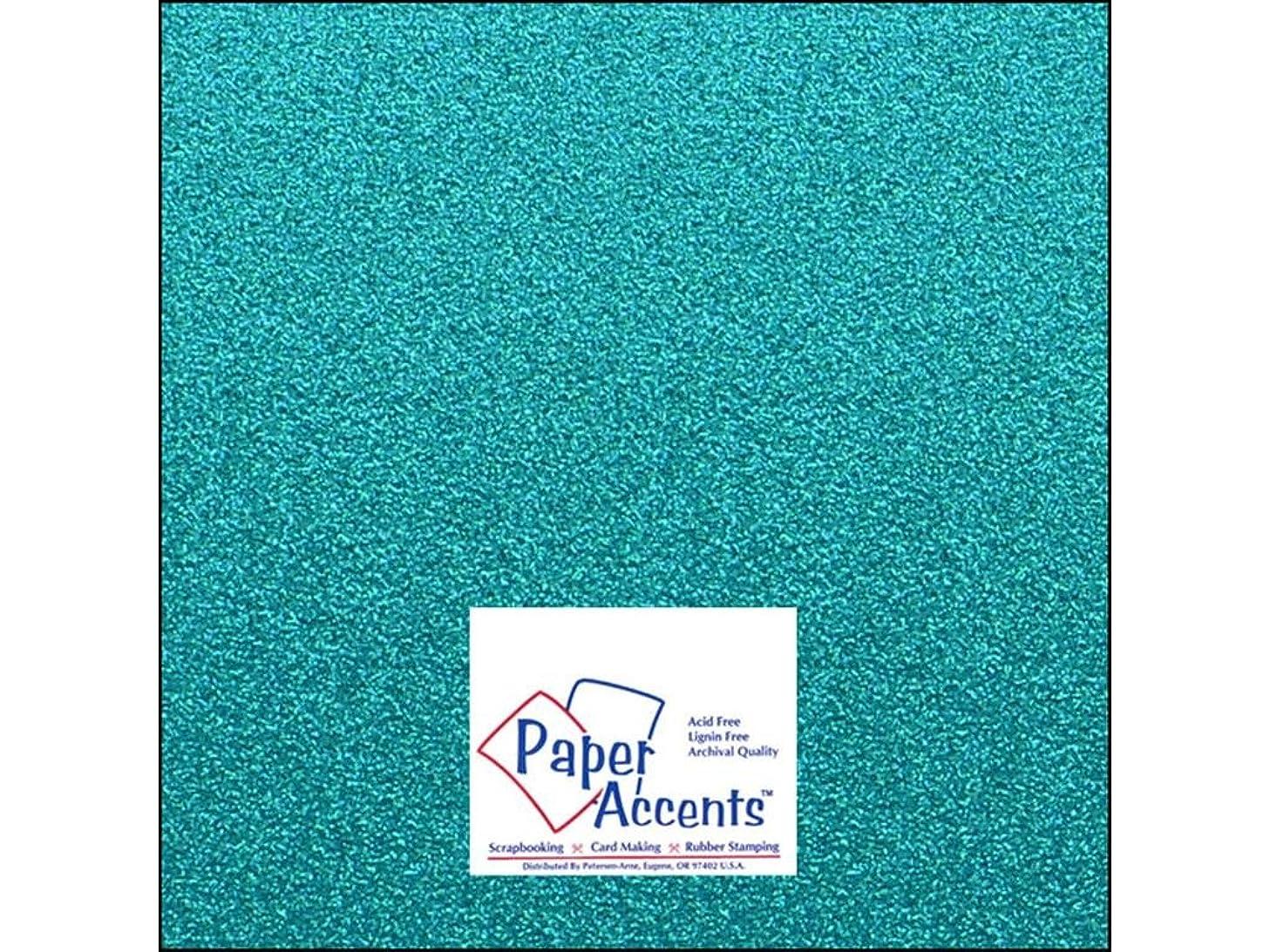 Accent Design Paper Accents PrussanBlu Cdstk Glitter 12x12 85# Prussian Blue