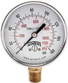Winters PEM215LF PEM-LF Series Pressure Gauge, 2.5