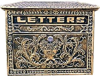 zenggp European Letterbox Cast Aluminum Mailbox Antique Wall Country House Style Lockable