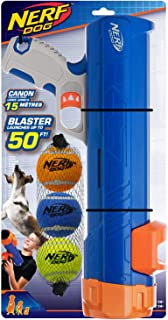 Nerf Dog Compact Tennis Ball Blaster Dog Toy, Great for Fetch, Hands-Free Reload, Launches up to 50 ft, Single Unit, Inclu...