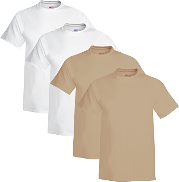 01604 10//12 nEW Hanes Beefy T Youth 100/% Cotton T-Shirt Yellow Medium