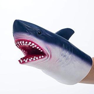 Yolococa Shark Puppet Hand Puppet Toys Realistic Latex Animal Shark Instagram Children Toys for Kid