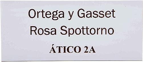 /3/l/íneas Placa Buz/ón n/úmero Decayeux 100/x 25/mm gris plata letras negras/