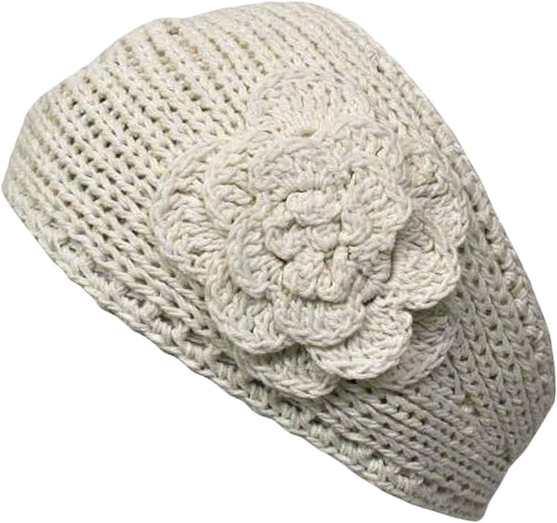 Knit Handmade Headband With Flower