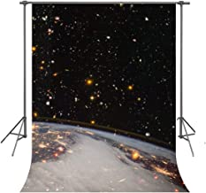FUERMOR Background 5x7ft Universe Stars Photography Backdrop Space Theme Party Photo Video Props RQ042