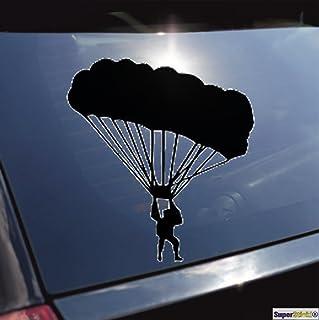 SUPERSTICKI Fallschirmspringer Skydiving Aufkleber ca. 20 cm Autoaufkleber Tuningaufkleber Hochleistungsfolie f