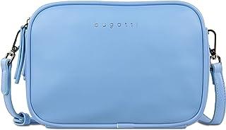 Bugatti Almata kleine Schultertasche für Damen - edle Umhängetasche in Hellblau