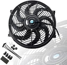 MOSTPLUS Black Universal Electric Radiator Slim Fan Push/Pull 12V + Mounting Kit (14 Inch)