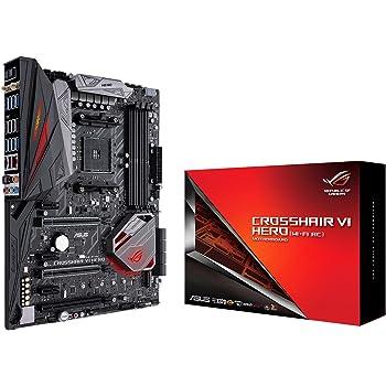 ASUS ROG Crosshair VI Hero (WI-FI AC) AMD Ryzen AM4 DDR4 M.2 USB 3.1 ATX X370 Motherboard with onboard 802.11AC WIFI and AURA Sync RGB Lighting