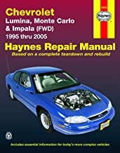 Chevrolet Lumina, Monte Carlo & Impala FWD (95-05) Haynes Repair Manual (Does not include information specific to rear-wheel drive Impala models or supercharged models.)