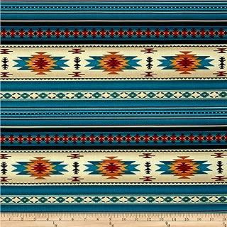 Elizabeth Studios Tucson Stone Turquoise Fabric by The Yard