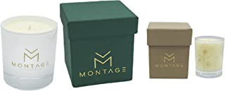 Montage Lifestyle Soy Wax Candle Gift Set - Peace- Aromatherapy Candles for Calming & De-stress with 100% Pure Essential Oils- Handmade in Greece