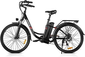VIVI Bicicleta Electrica, 26 Pulgadas Ebike 250W Motor Bicicleta Eléctrica, 36V / 8Ah Li-Ion Batería, Shimano 7 Velocidades, Bicicleta Mujer Bici Electrica para Adultos