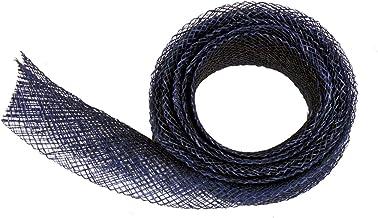 Sinamay Bias Binding Tape for Millinery 3 cm Wide - Navy Blue - 1 Meter