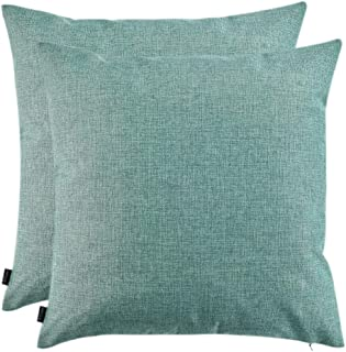 Artcest Set of 2, Decorative Linen Bed Throw Pillow Cases, Sofa Durable Modern Stylish, Comfortable Cushion Covers for Couch, 20