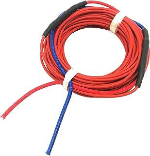 DZF697 1pc 20m Connecté 12K 33OHM Fibre de Carbone fluoroplastique Chauffage Câble Sol War Fil chauffé, Hotline de Chauffa...
