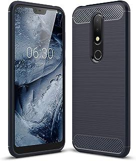 جراب FanTing لهاتف Nokia 6.1 Plus، مضاد للانزلاق وفائق النحافة لامتصاص الصدمات ومضاد للخدش، جراب لهاتف Nokia 6.1 Plus - أز...
