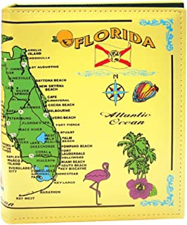 Rockin Gear Photo Album Florida map Large Leather Embossed Florida Map Souvenir and Gift Photo Album Holds 200 Photos 7