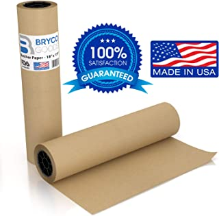 Bryco Goods Brown Craft Butcher Paper Roll for Smoking Meat - 18 Inches x 175 Feet - Uncoated Butcher's Kraft Packing Paper Wrap for Cooking, Wrapping & Storing Brisket & BBQ Food Grade FDA Approved