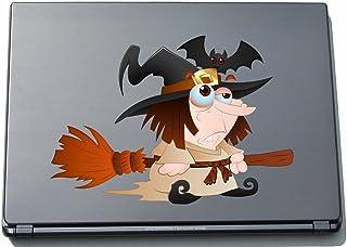 Naklejka na laptopa - czarownica 07 - witch - laptop skin - naklejka 297 mm