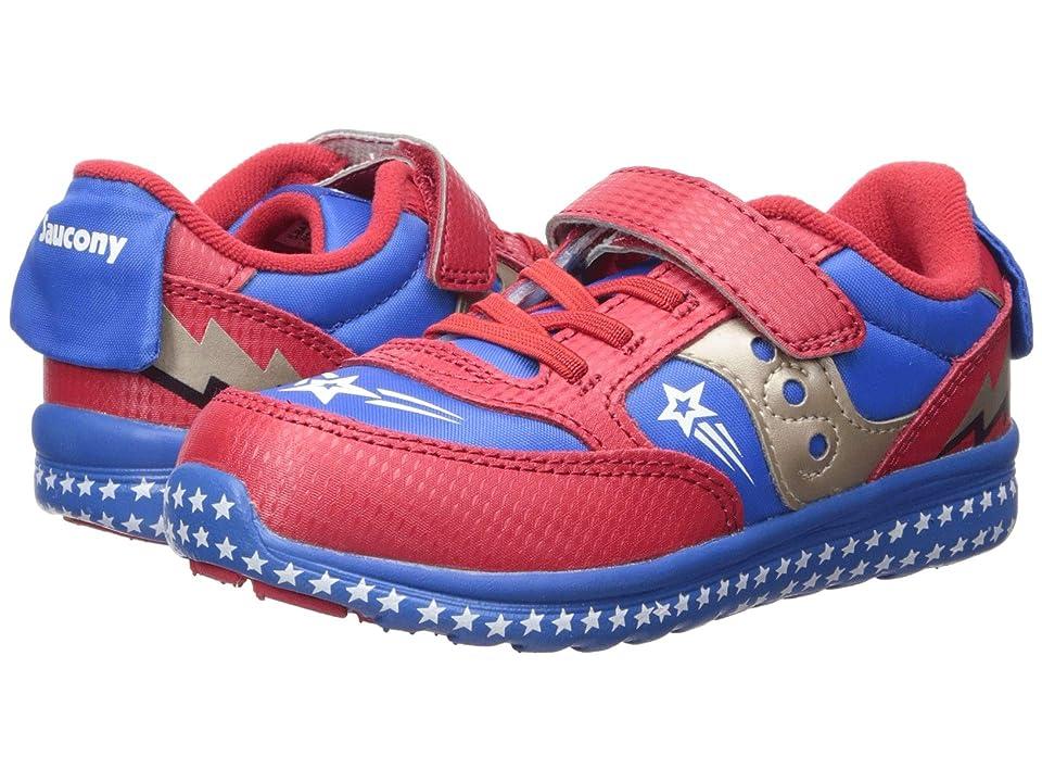 Saucony Kids Originals Jazz Lite (Toddler/Little Kid) (Red/Blue/Superhero) Boys Shoes