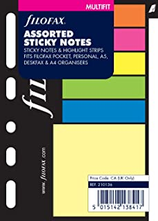 Filofax Pocket, Sticky Notes Assorted Colors, Color May Vary Multi-Fit (B210136)