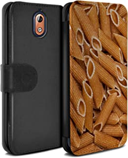 eSwish PU Leather Wallet Flip Case/Cover for Nokia 3 2018 (3.1) / Penne Pasta Design/Food Collection