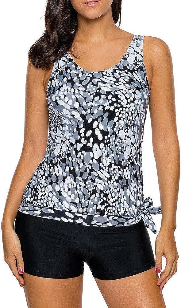 Womens Popular brand in the world Tankini Super sale period limited Bikini Set Fashion Swimwear Print Tops Tank Beach