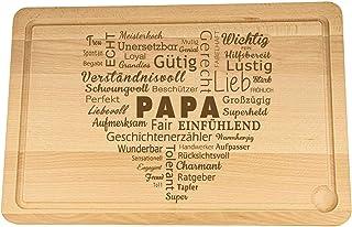 Spruchreif PREMIUM QUALITÄT 100% EMOTIONAL Planche à découper XXL en bois - Planche à découper avec gravure en forme de cœ...