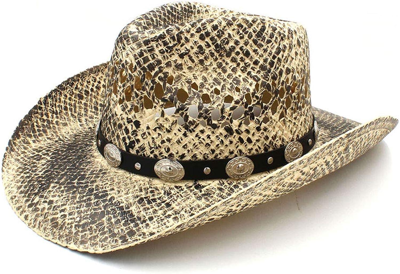 XXY Herren 100% Stroh Western Cowboy Hut handgefertigte Weave Papa Sombrero Hombre Cowgirl Jazz Caps B07NPF7WNC Ideales Geschenk für alle Gelegenheiten     | Elegantes Aussehen